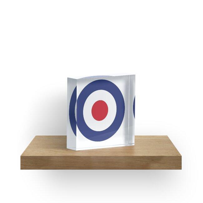 e3d273ae2d0 RAF Roundel MOD Target Bullseye Red White   Blue Circle