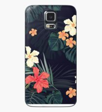 Dark tropical flowers Case/Skin for Samsung Galaxy