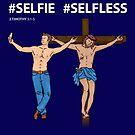 #Selfie Selfless Jesus Cross Christian Design by Kelsorian
