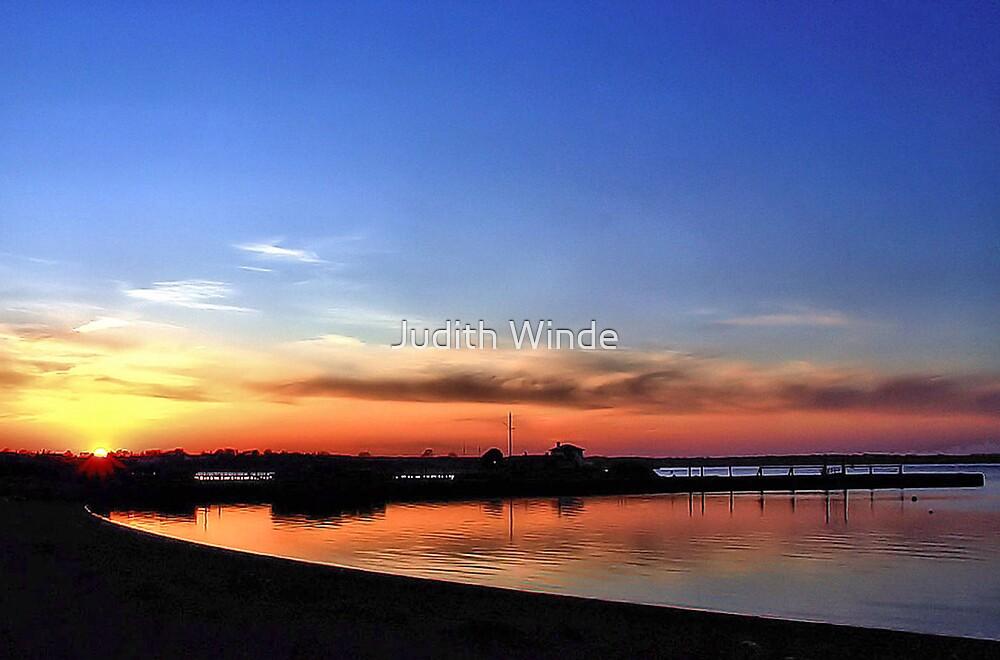 Setting Sun in Newport, Rhode Island by Judith Winde