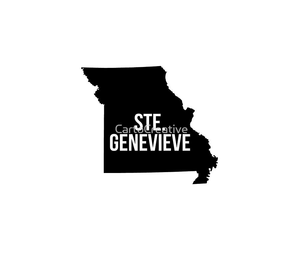 Ste Genevieve, Missouri Silhouette by CartoCreative