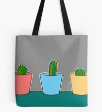 Three Little Cactus Tote Bag