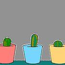 Three Little Cactus by Adam Regester