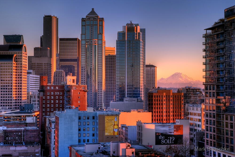 Grandview - Seattle Cityscape by Mark Bauschke