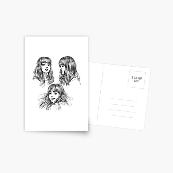 lalisa postcard by ellen drawings redbubble