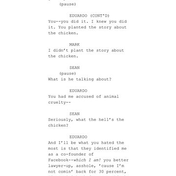 The Social Network-  screenplay scene by TJPhotos-Sama
