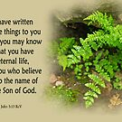 That You May Know ~ 1 John 5:13 by Robin Clifton