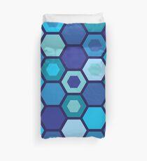 Blue Matrix Duvet Cover