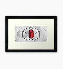 Minimal Geometry - Minimalistic Cubes Framed Print