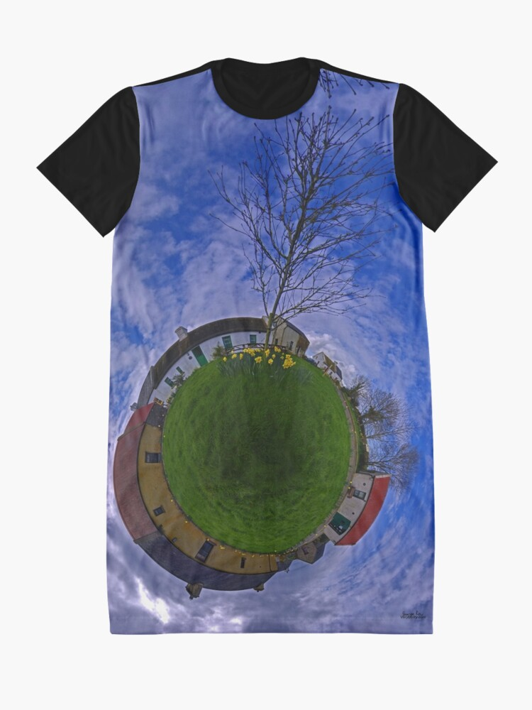 Alternate view of Hanna's Close, on a Sunny Day in County Down Graphic T-Shirt Dress