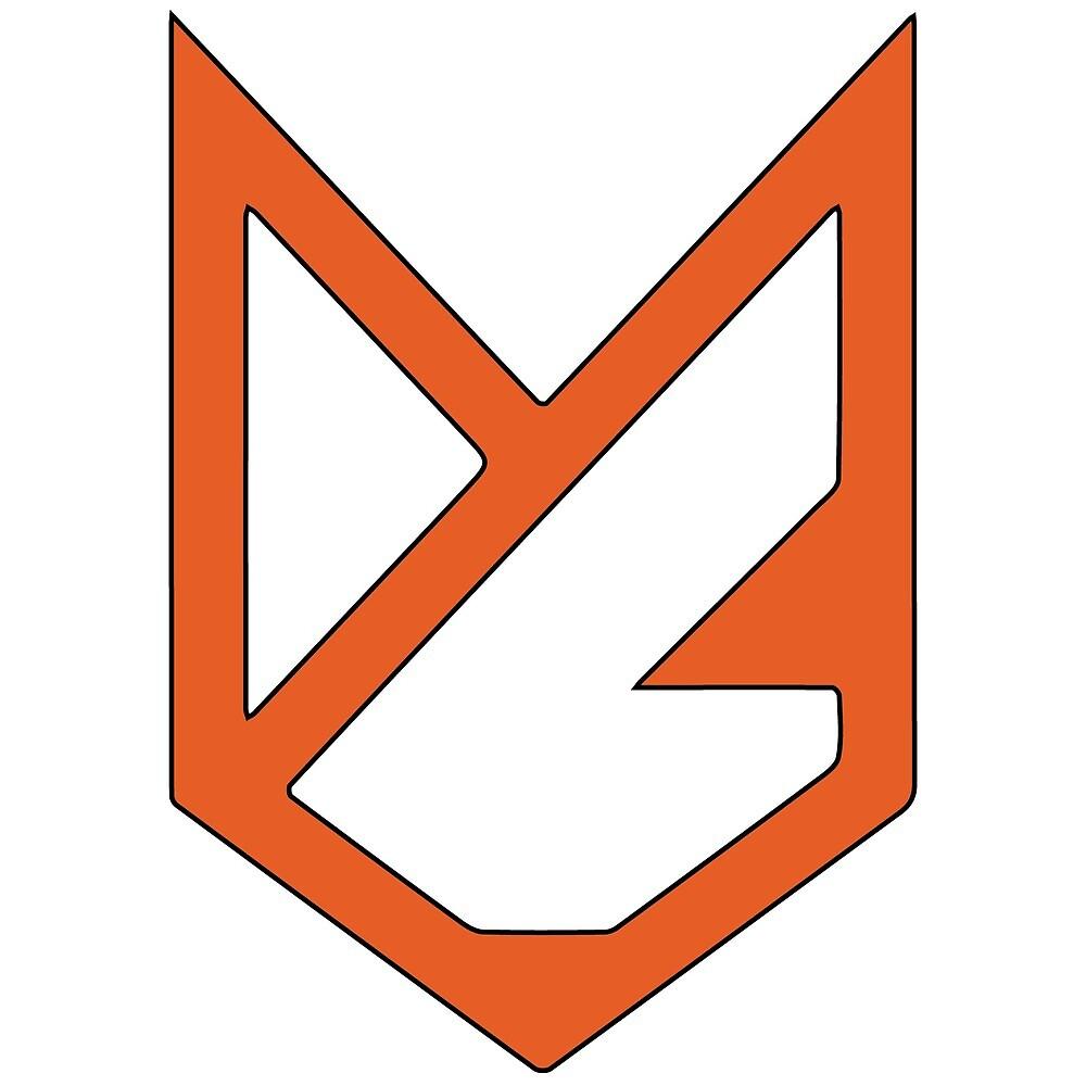 fox steel logo sticker! by sincerelytype