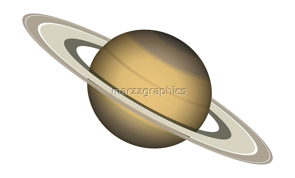 Saturn Planet, Planet with Rings, Planet, Solar System, Outer Space, Saturn by marzzgraphics