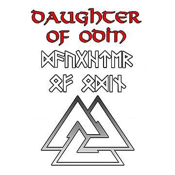 Daughter of Odin (Runic) by terminaltees