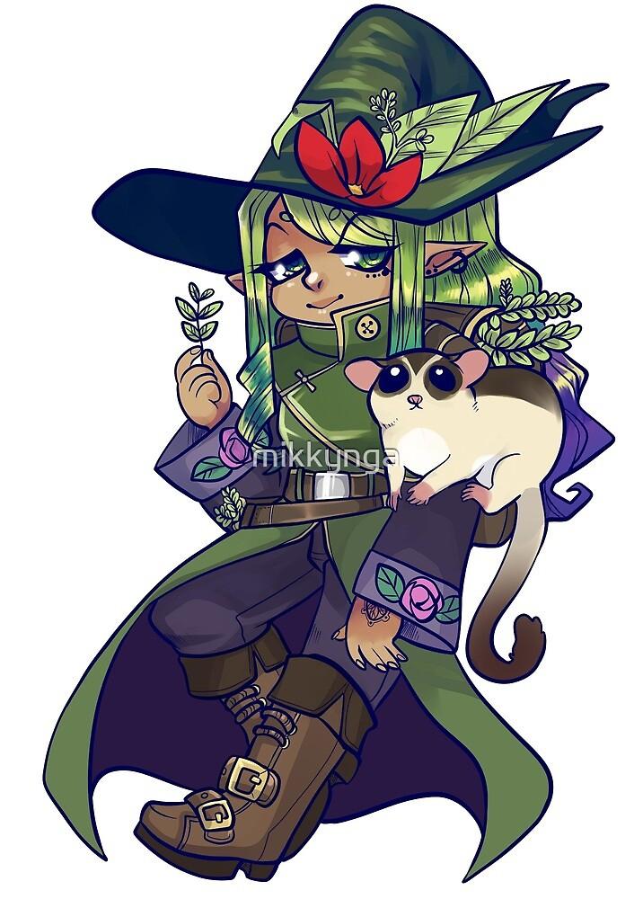 Herbal witch sticker by mikkynga