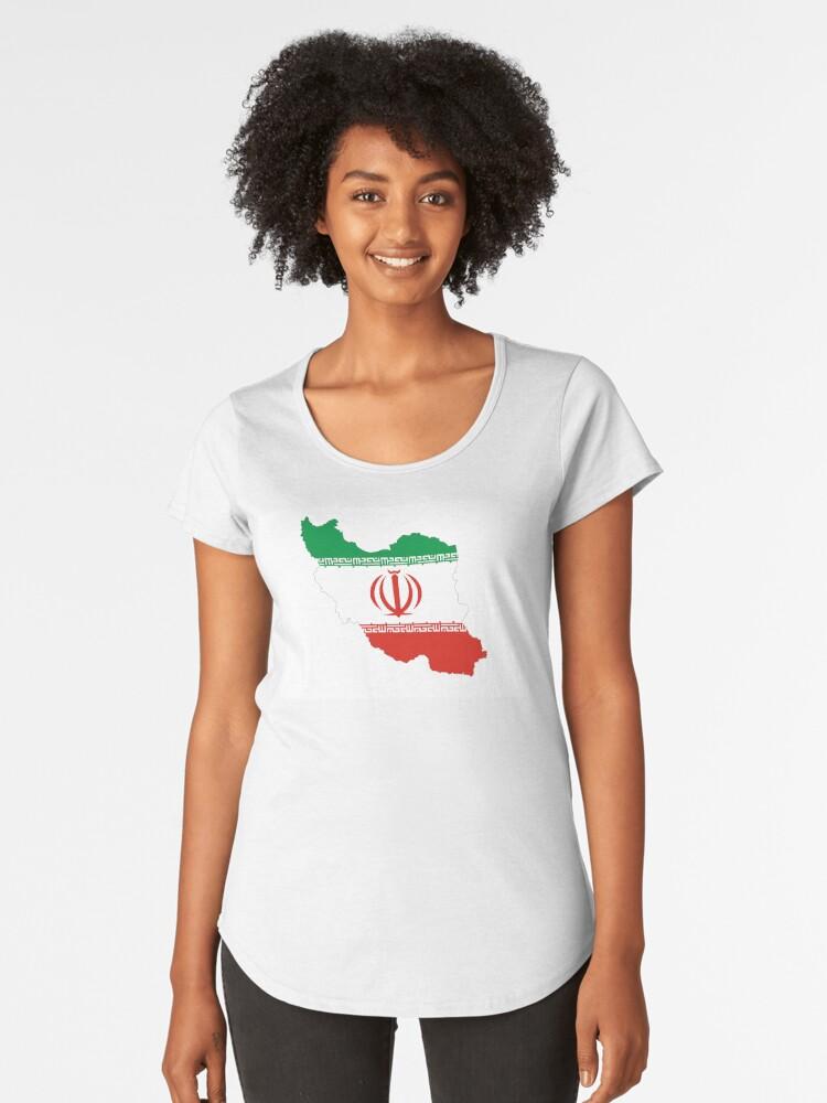 iran flag map Women's Premium T-Shirt Front