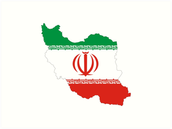 iran flag map by tony4urban