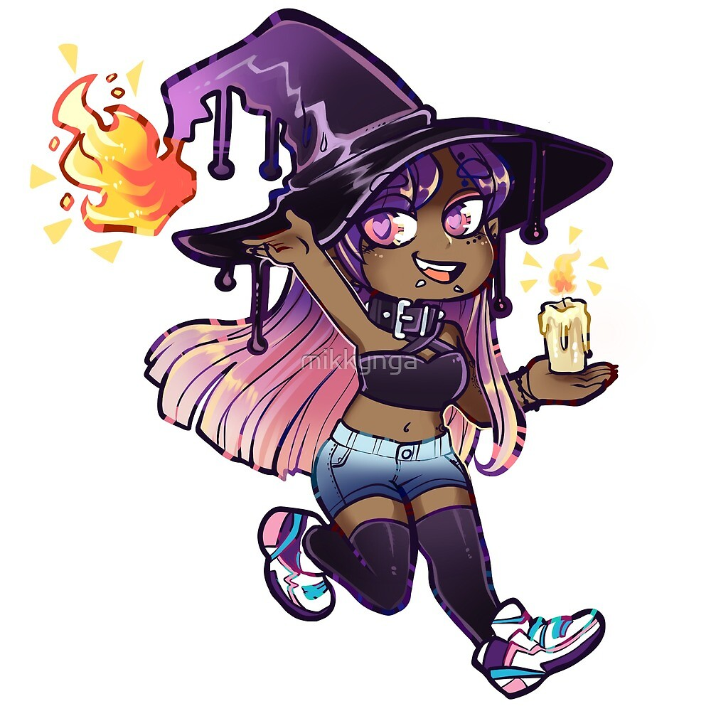 Candle witch sticker by mikkynga