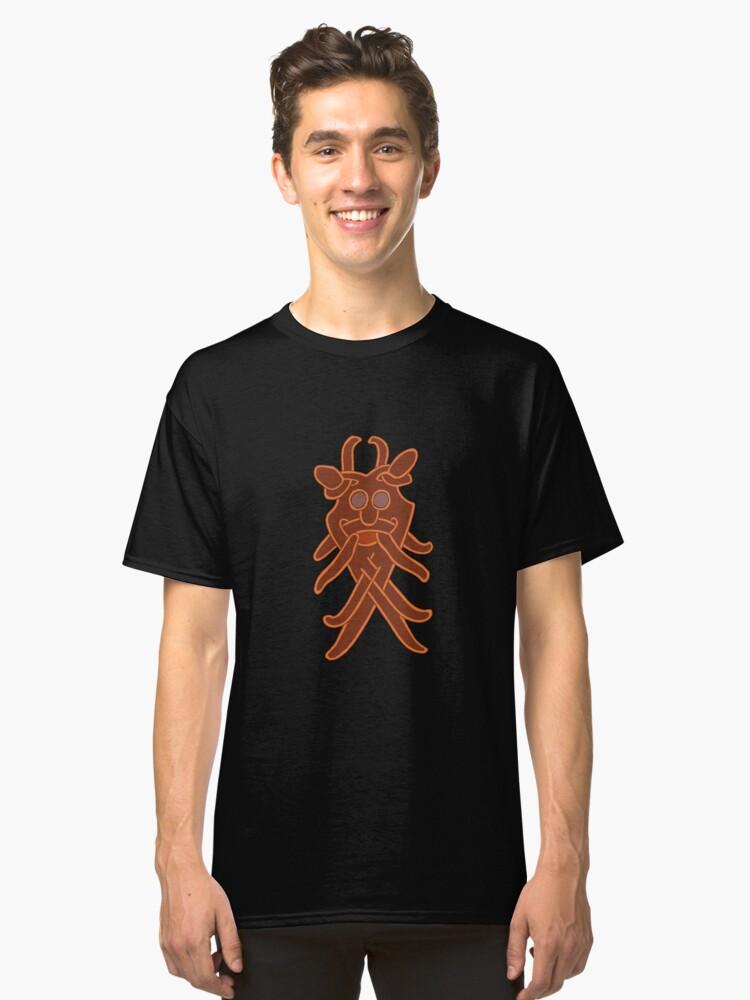 Viking Death Mask Classic T-Shirt Front