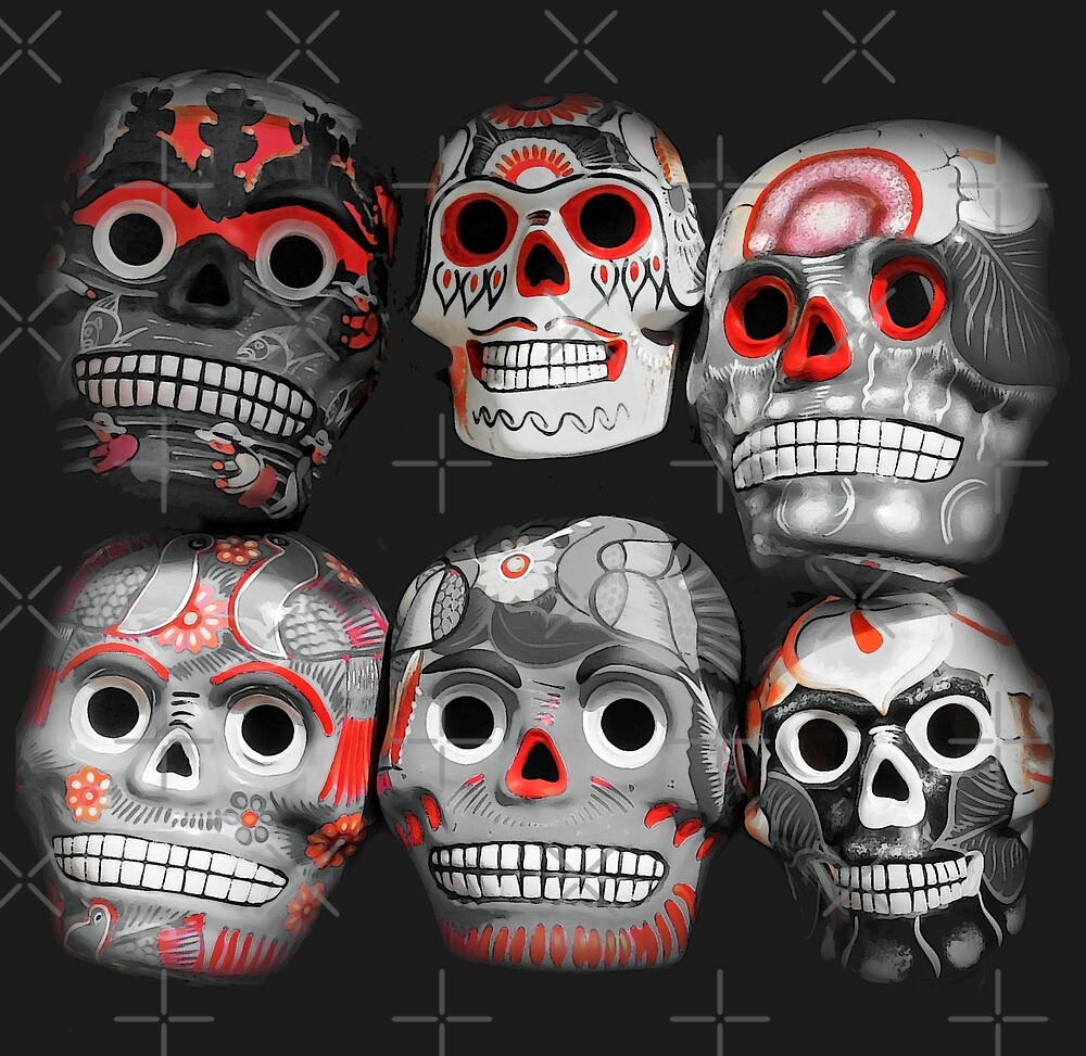 Masks of Mexico Day of the Dead by CarolM