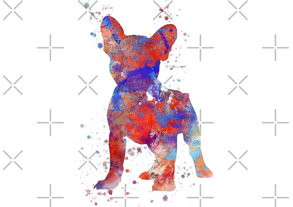 French Bulldog, Frenchie, French Bulldog art by Rosaliartbook