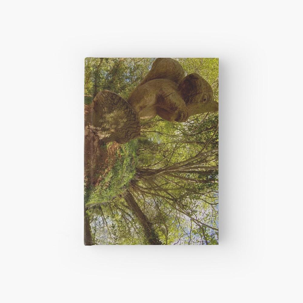 Squirrel Sculpture on path through Prehen Woods,  Derry Hardcover Journal