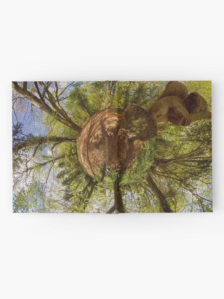 Alternate view of Squirrel Sculpture on path through Prehen Woods,  Derry Hardcover Journal