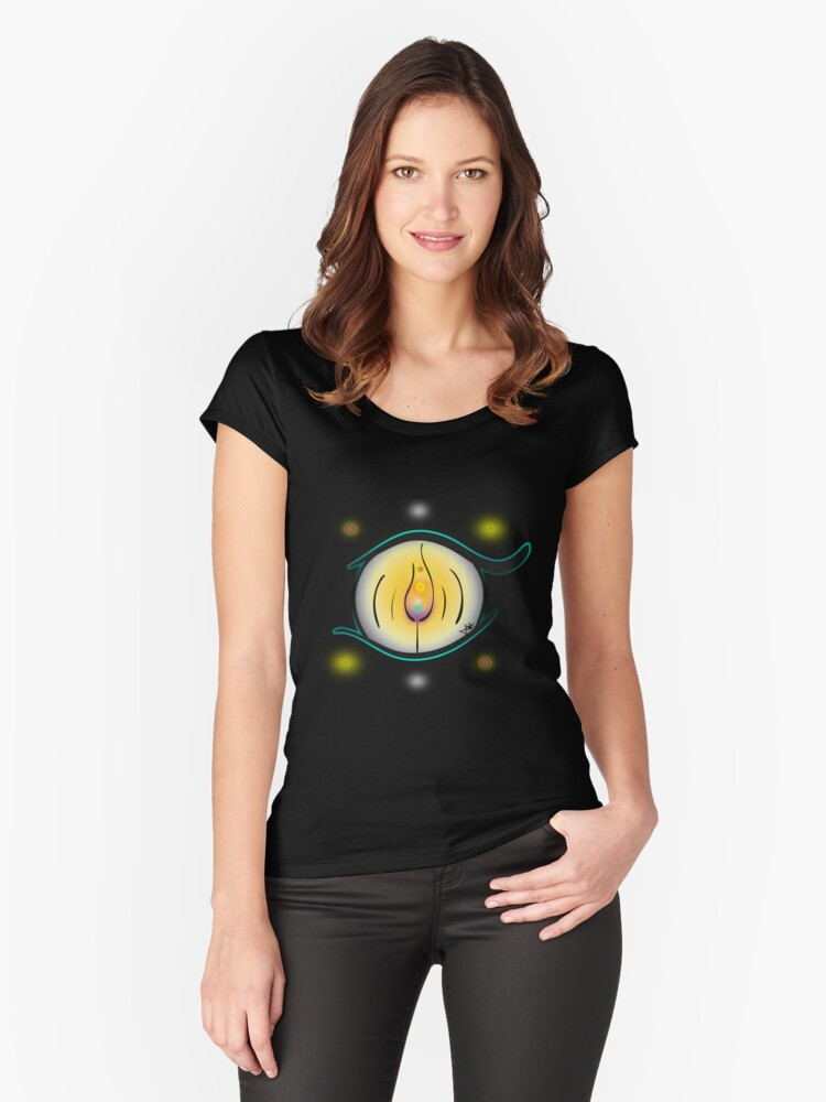 Eye of Fire Women's Fitted Scoop T-Shirt Front