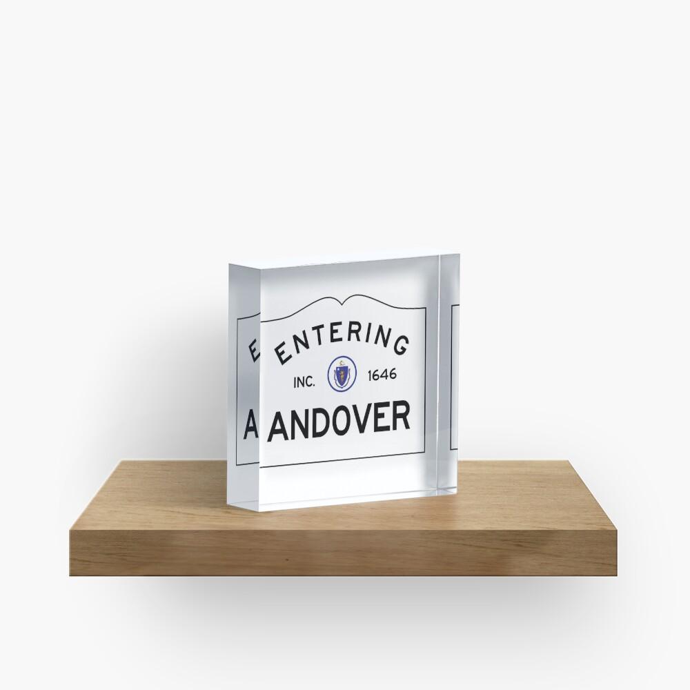 Entering Andover Massachusetts - Commonwealth of Massachusetts road sign. Acrylic Block