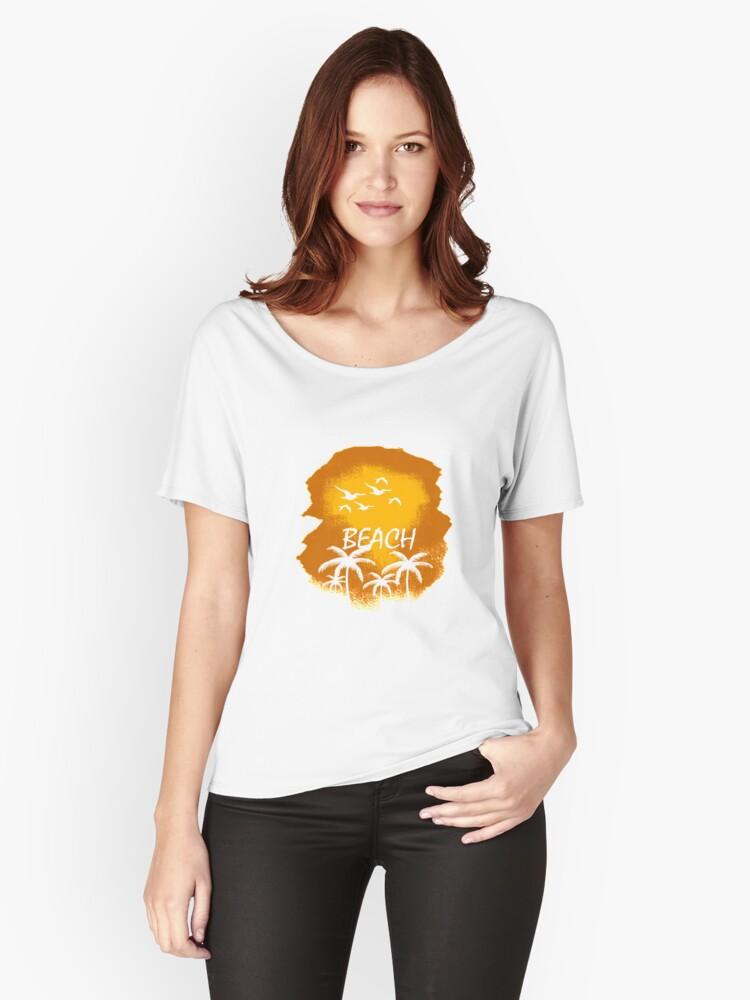 BEACH !!! SUMMER DESIGN Women's Relaxed Fit T-Shirt Front