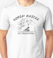 Camiseta unisex Bonsai maestro en entrenamiento
