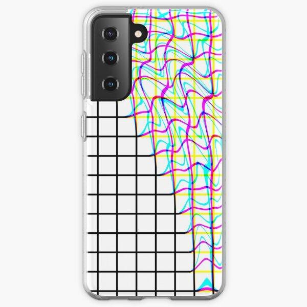 Glitch Grid  Samsung Galaxy Soft Case