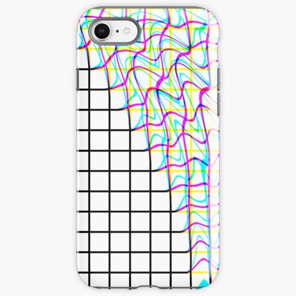Glitch Grid  iPhone Tough Case