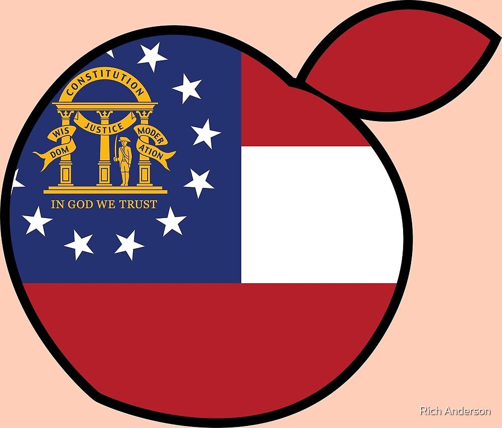 GeorgIa Peach Flag by Rich Anderson