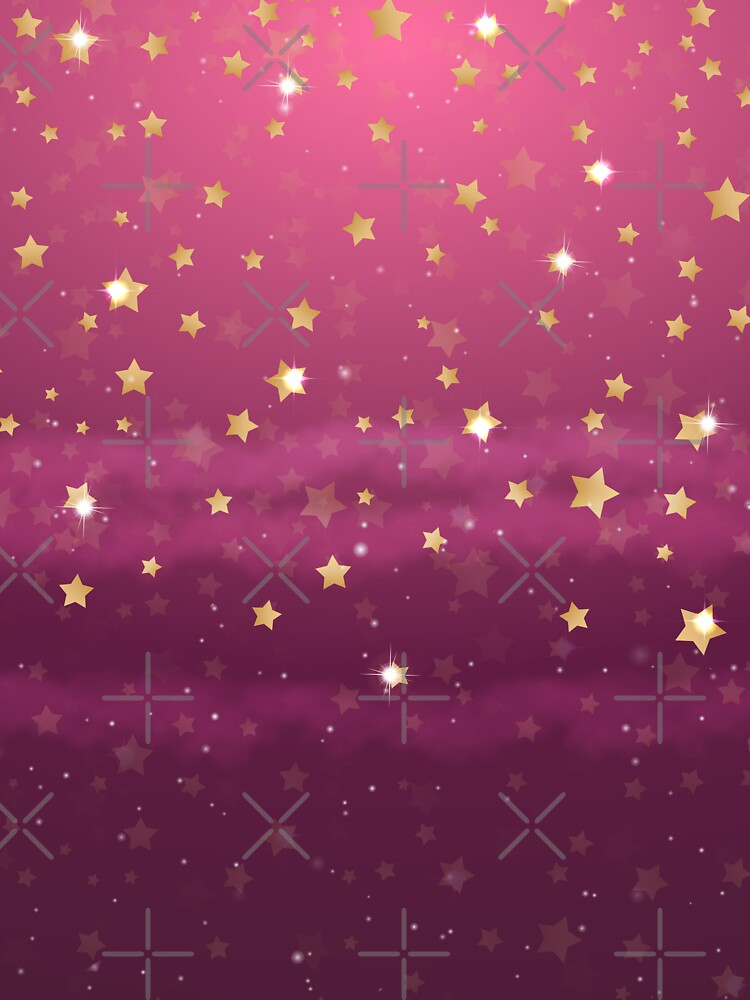 Stylish elegant gradient purple gold stars  by Harou