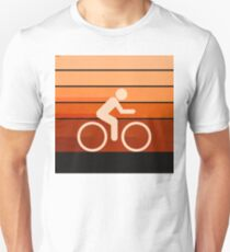 Biking Orange T-Shirt