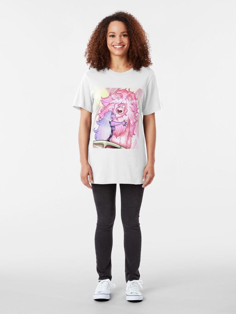 Alternate view of Amethyst Lion Cuddles  Slim Fit T-Shirt