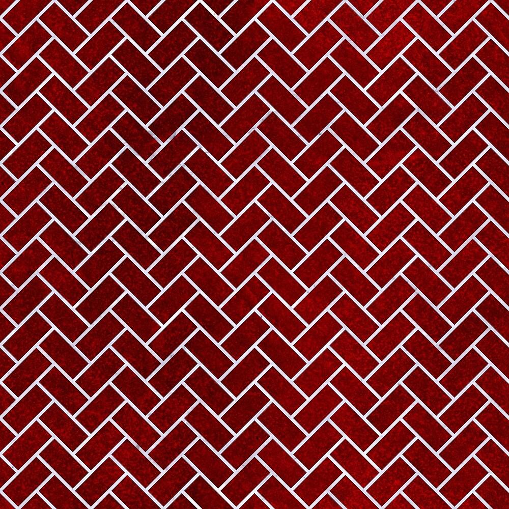 BRICK2 WHITE MARBLE & RED GRUNGE by johnhunternance