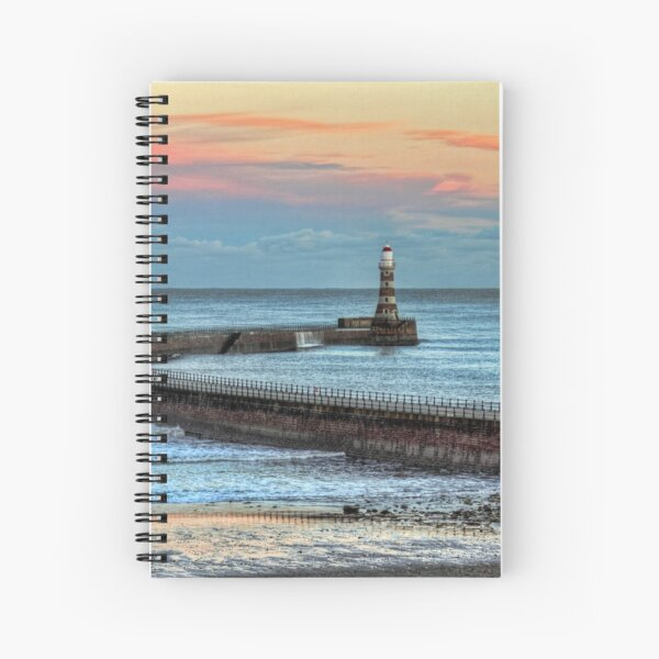 Roker Pier and Lighthouse Sunderland Spiral Notebook