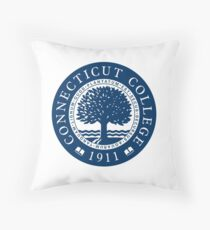 Connecticut College Seal Throw Pillow