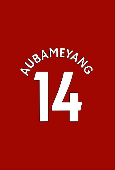 Aubameyang Arsenal FC Shirt Design by DJD Design