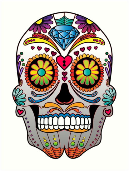 Quot Sugar Skull W No Background 1 Quot Art Print By Kennasato