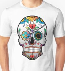 Sugar Skull w/no background 3 Unisex T-Shirt