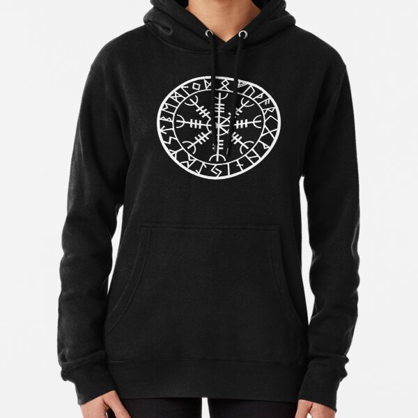 Norse - Helm of Awe White Pullover Hoodie
