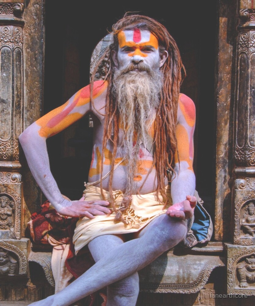 Saddhu sat in the street by ianearthcore
