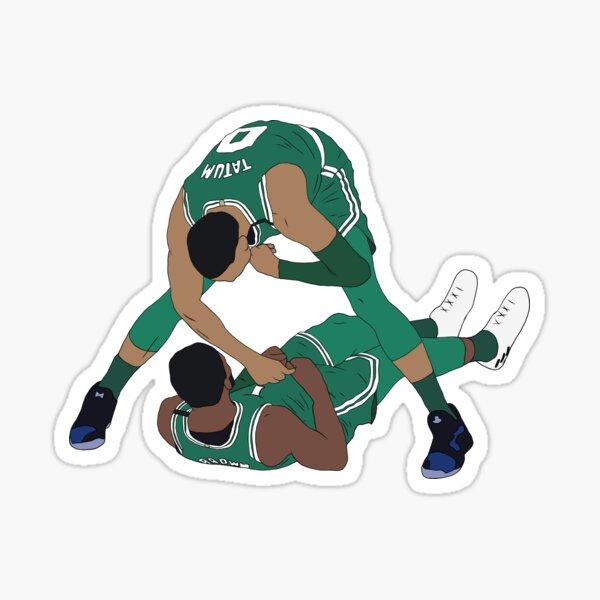 Jaylen Brown And Jayson Tatum Celebration Sticker