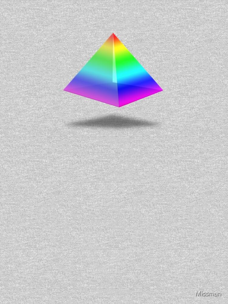 Floating Rainbow Pyramid by Missman