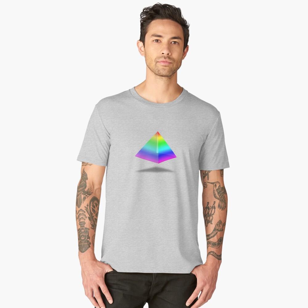 Floating Rainbow Pyramid Men's Premium T-Shirt Front