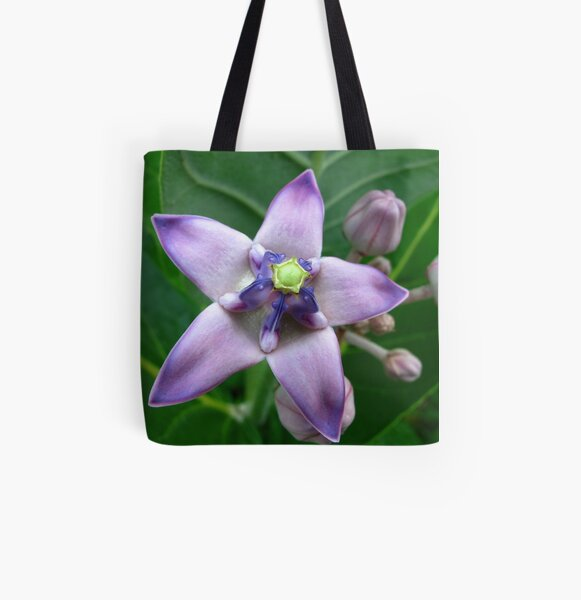 Giant Milkweed Purple All Over Print Tote Bag