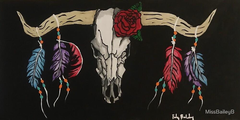 Decorated Longhorn Skull by MissBaileyB