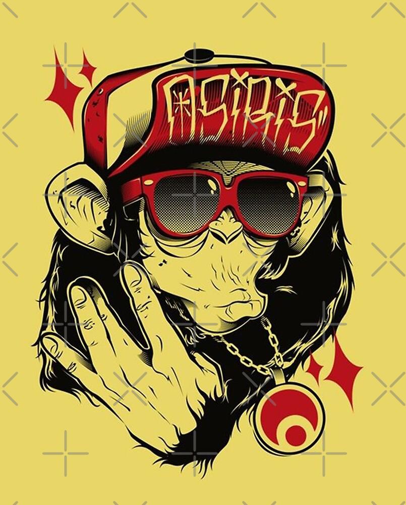 Monkey Hip Hop Dude Art\